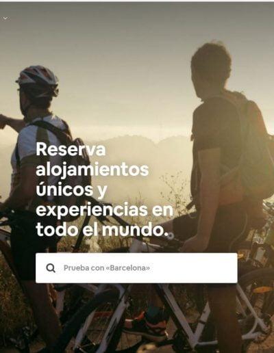 Web de Airbnb desde tablet