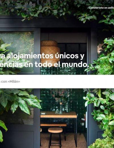 Web de Airbnb desde escritorio
