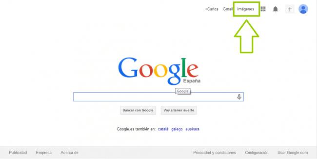 Pincha en la Búsqueda de imágenes de google