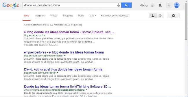 Ejemplo de búsqueda simple