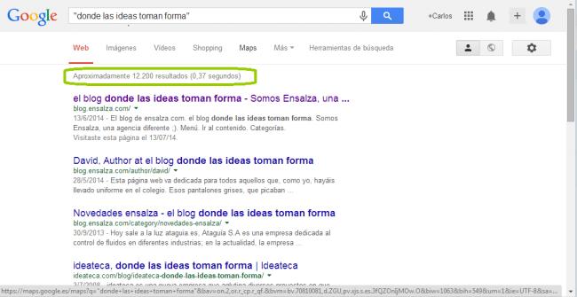ejemplo de búsqueda exacta