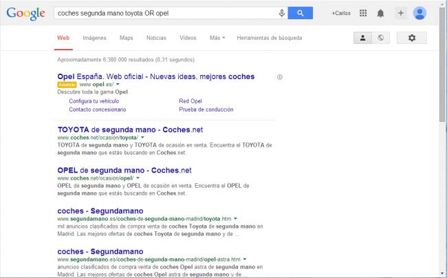 ejemplo de búsqueda combinada