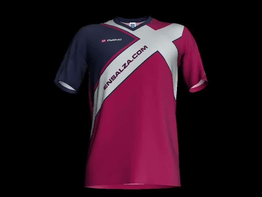 Ensalza, patrocinador oficial de un equipo de fútbol.