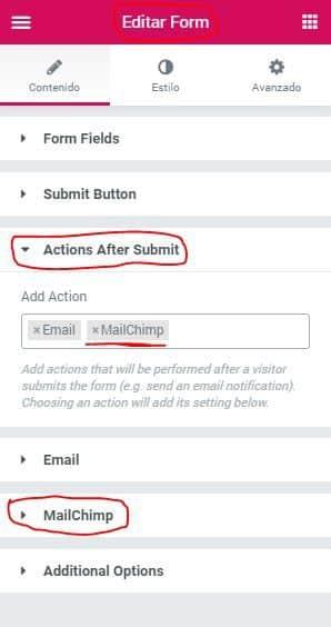 activar mailchimp formulario jpg