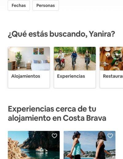 Web de Airbnb desde la app