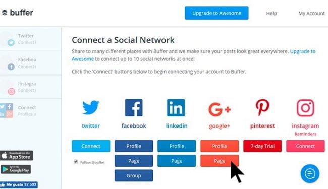 automatizar Google+ con buffer