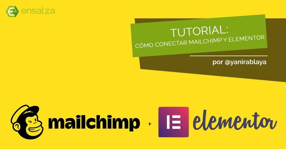 como conectar mailchimp con elementor