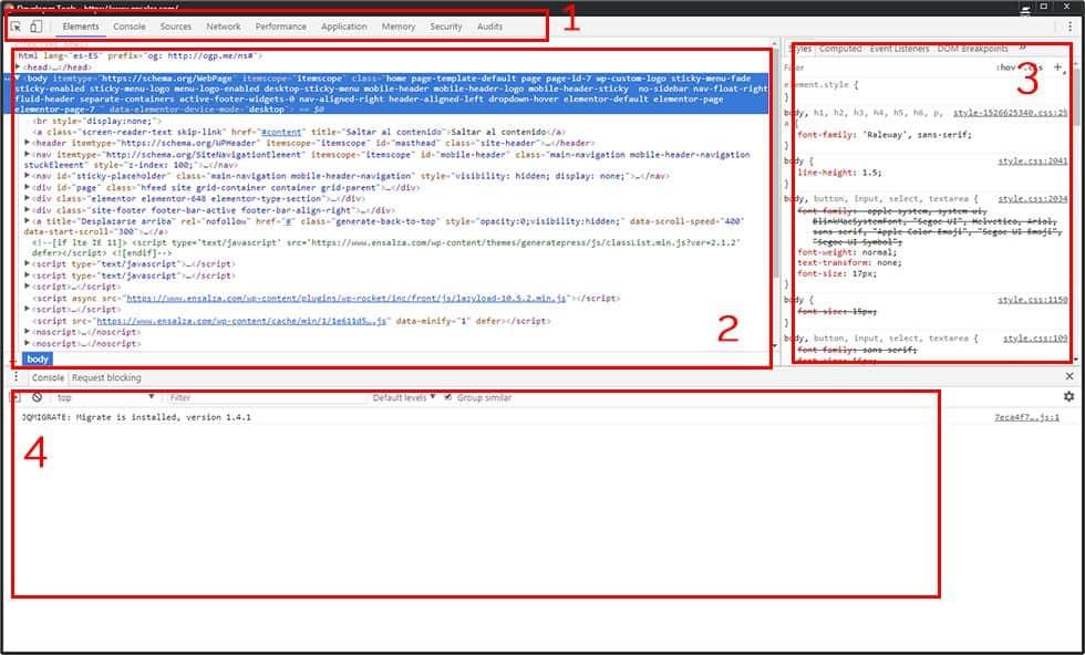 Herramientas para desarrolladores de Google Chrome
