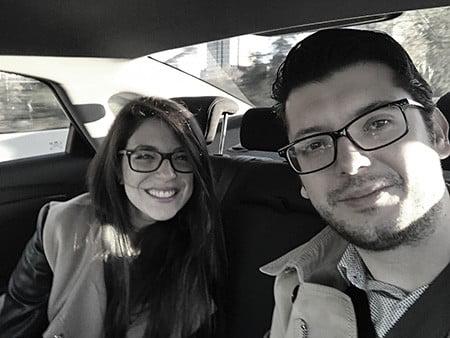 @yanirablaya y @salonso web camino del PROmarketingDAY ¡equipo MKT Ensalza!