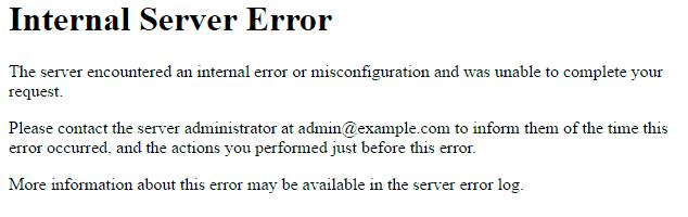 web caída: error 500