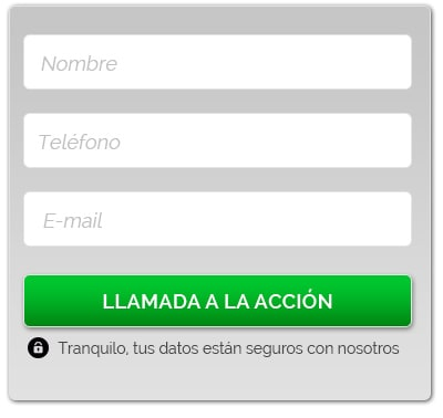 formulario para landing - Ensalza.com
