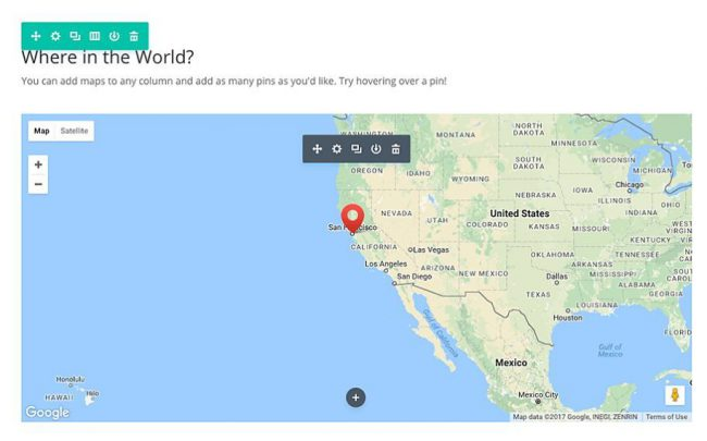 mapa divi api google maps