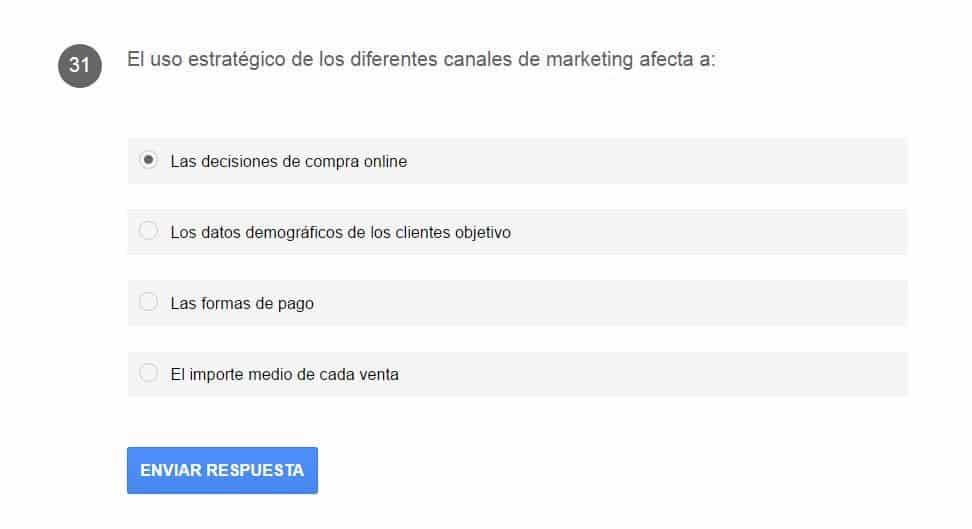 pregunta certificacion google adwords