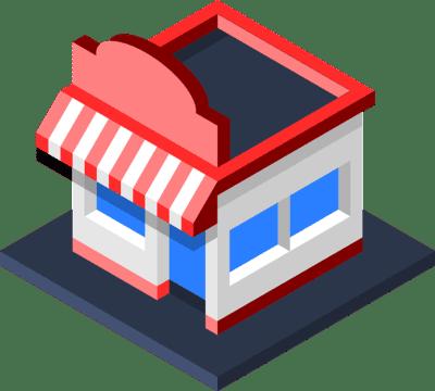 ilustracion de tienda local