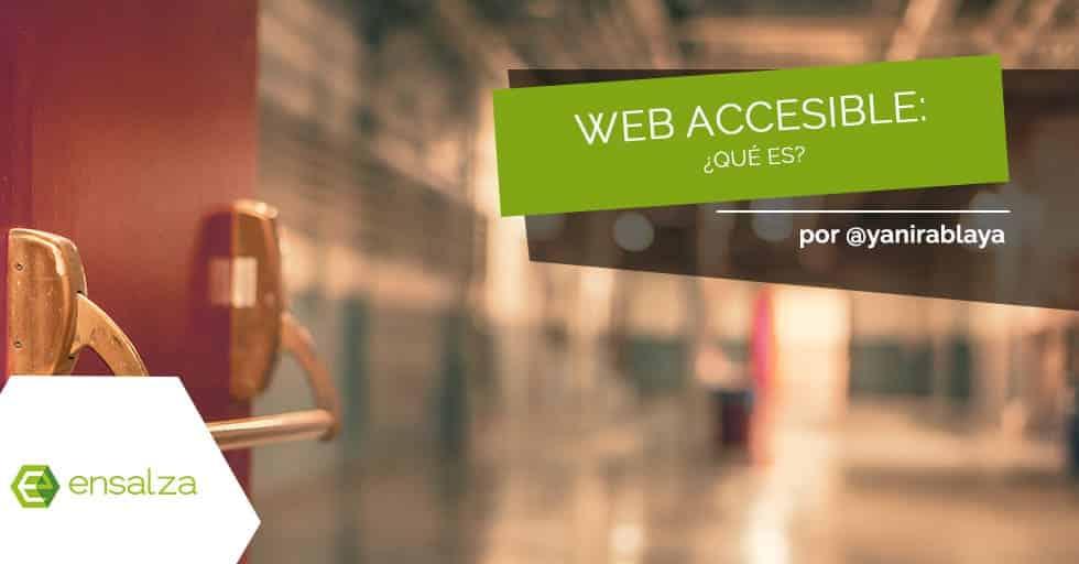 ¿Qué es una página web accesible?