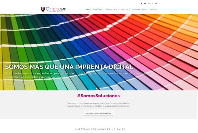proyecto de diseño web arte grafico