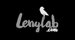 Logotipo gris Lenylab