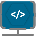 Icono desarrollo aplicaciones Web Ensalza