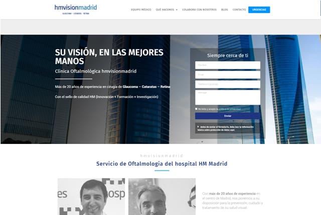 desarrollo web hm vision clinica