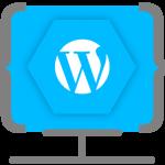 Icono diseño web en WordPress Ensalza
