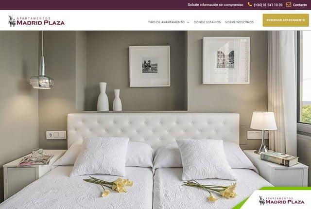 diseño web apartamentos madrid plaza