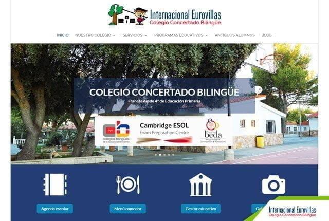 pagina web colegio eurovillas