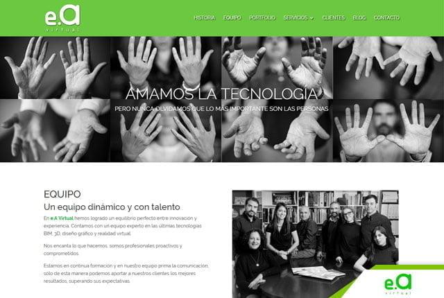 àgina web estudio arquitectura