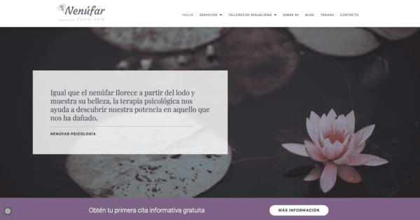 pagina web psicologia nenufar