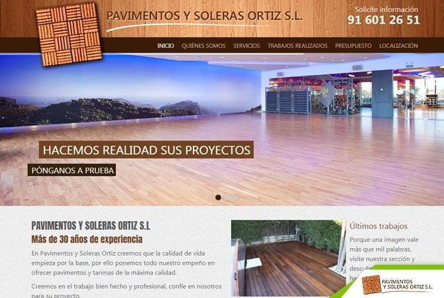 pagina web pavimentos ortiz