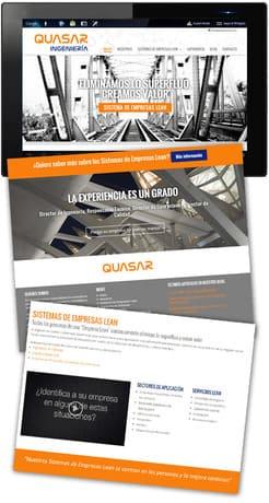 pagina web quasar ingenieria por ensalza