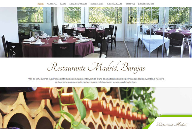 pagina web restaurante madrid