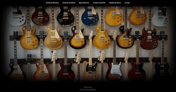 web showroom guitar house madrid