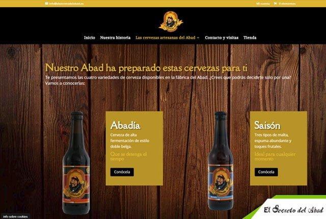 desarrollo tienda online cervezas abad