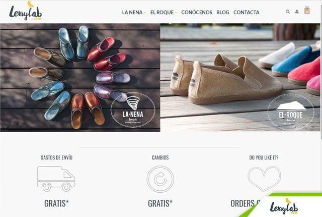 diseño tienda online calzados lenylab