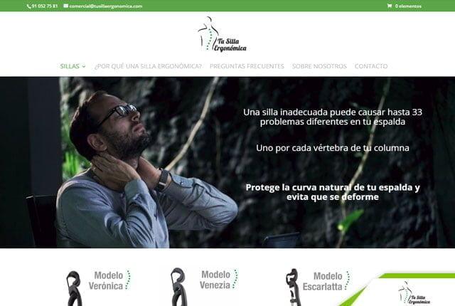 pagina web tu silla ergonomica
