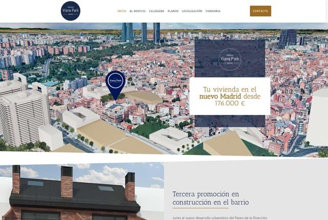 diseño web viana park