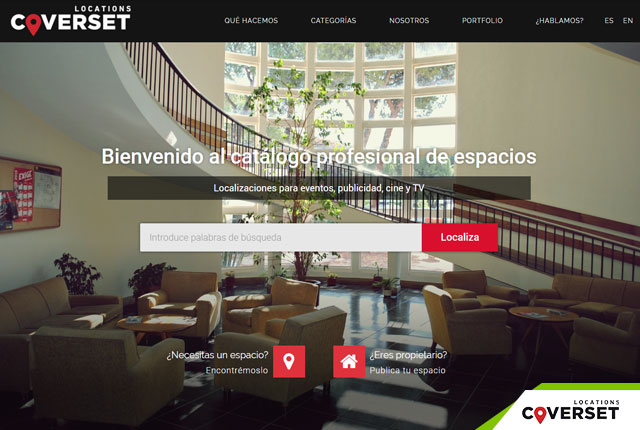 desarrollo de la web coverset locations