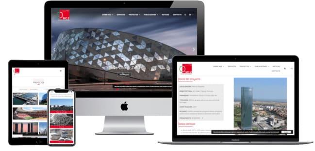 pagina web desarrollo por ensalza