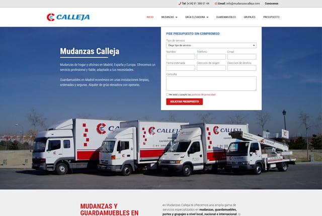 pagina web empresa de mudanzas